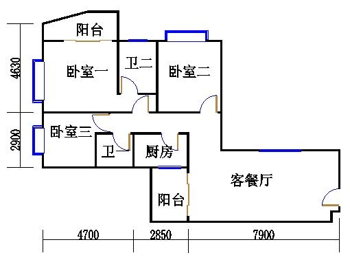 三居室A户型