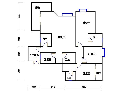 五号楼奇数层2号01单元
