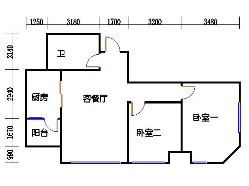 一号楼1-4-5-8号01单元