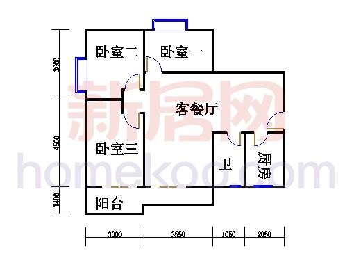 三居室D户型