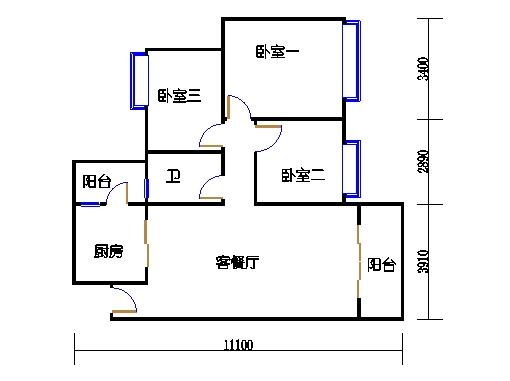 3栋3-9层03单元