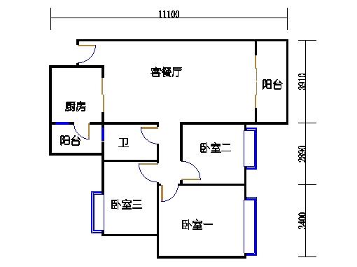 3栋3-9层04单元