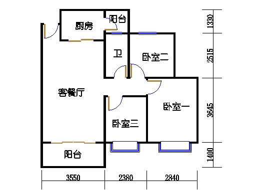 B2a19-24层01单元