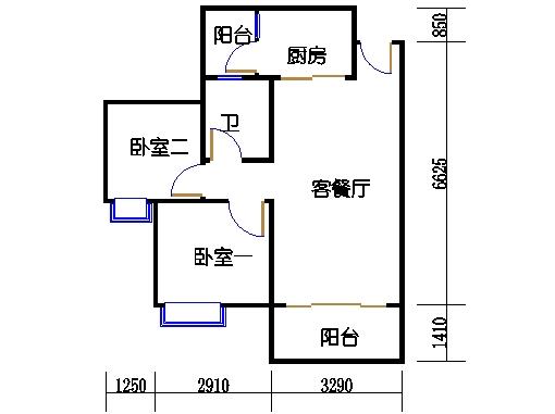B2a25-26层02单元