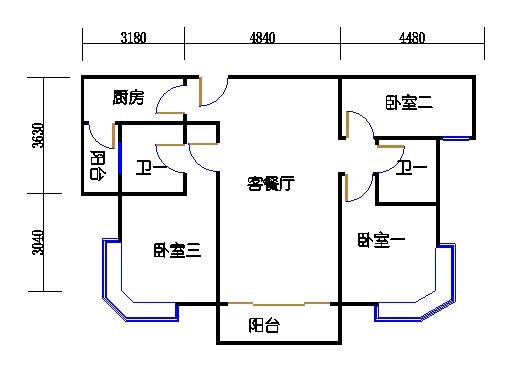 3座3-15层02单元