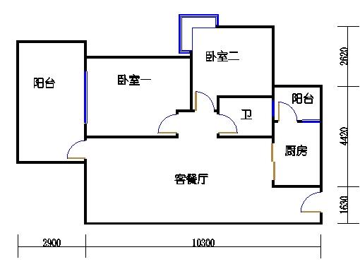 1.2栋偶数层A单元