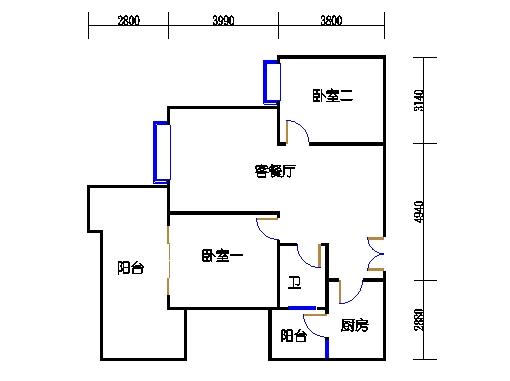 2.3.4.5.6栋偶数层01单元