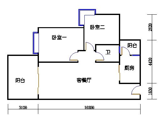 1.2栋奇数层A单元