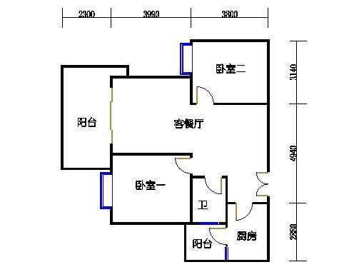 2.3.4.5.6栋奇数层01单元