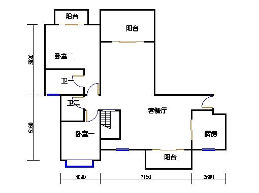 3-17层1601单元下层