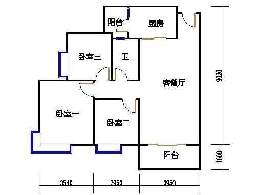 A16栋5-27层04单元