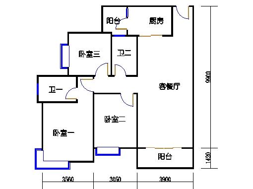 A16栋5-27层05单元