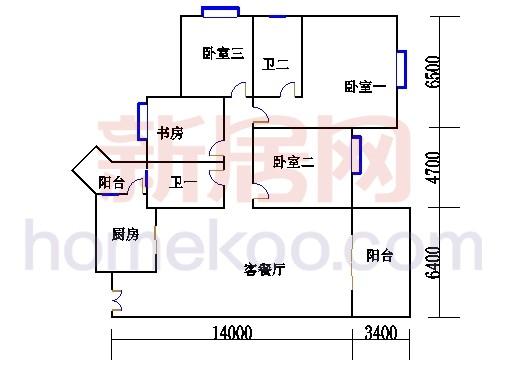E1栋3-13层01单位