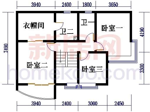自在庭苑4-6栋复式层01单位复式二层