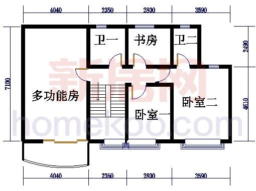 自在明苑3-5栋、自在闲庭1-4栋复式01单位复式二层