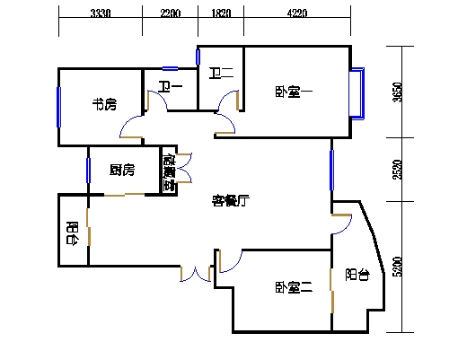21、23号楼D2单元