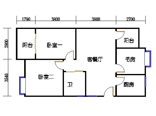 16.22号楼偶数层中间套