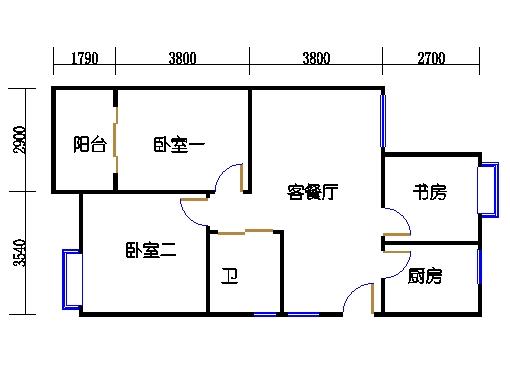 16.22号楼奇数层中间套