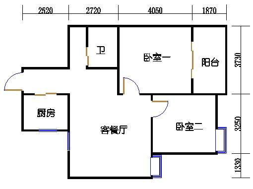 23号楼1.3单元中间套