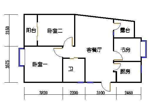 23号楼偶数层中间套