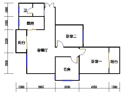 B-1单元奇数层方案一