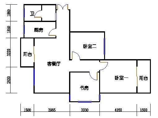 B-1单元奇数层方案二