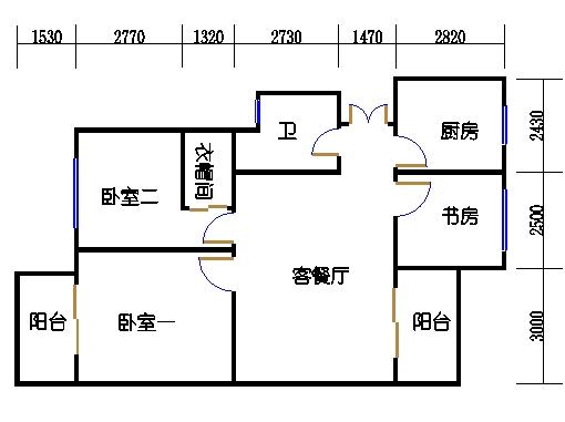 B-2单元奇数层方案一