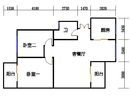 B-2单元奇数层方案二