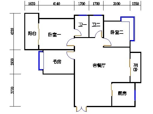 4楼二单元3-22层04