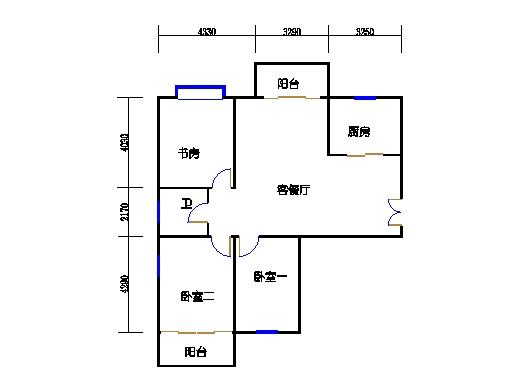 4-5楼3-27层1-04单元