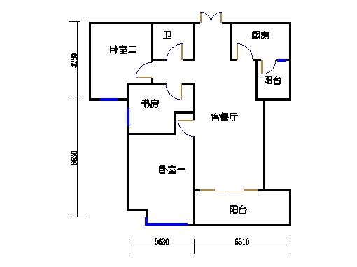 1楼B单元