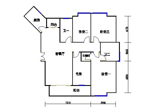 2-6楼B单元