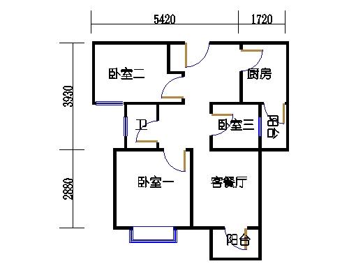 3幢01单元02室