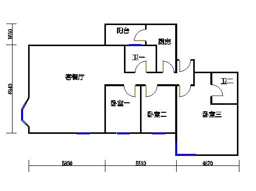 盈湖轩13-21层A单元