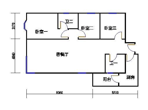 盈湖轩13-22层B单元