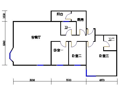 盈湖轩13-25层E单元