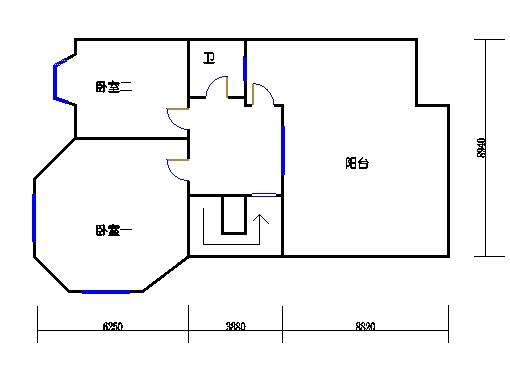 北一区34#1单元6层阁楼02