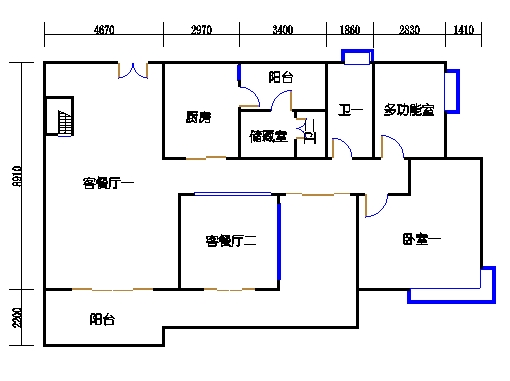 4栋3-15层01单元一层