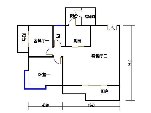 5栋3-16层02单元一层