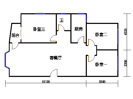 12号楼2-5层C1单元
