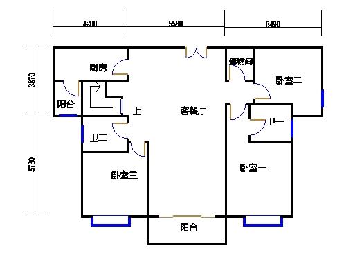 悦山翠庭B型2复式首层