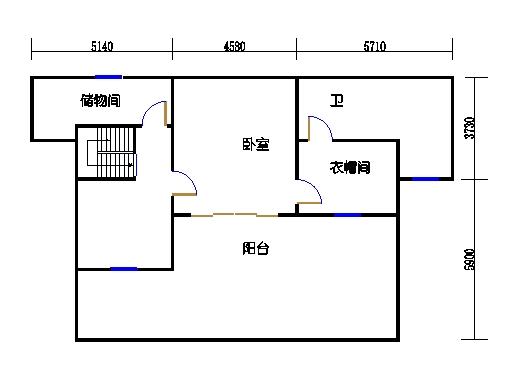悦山翠庭B型2复式二层