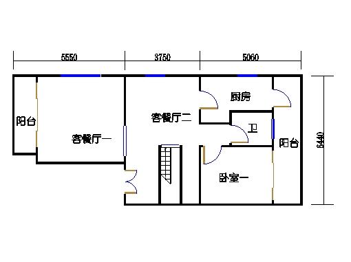 联排别墅A型一层