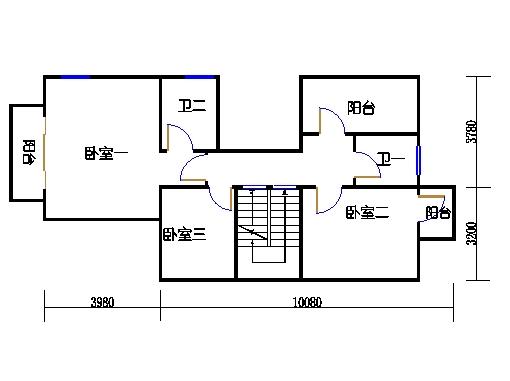 联排别墅A型二层