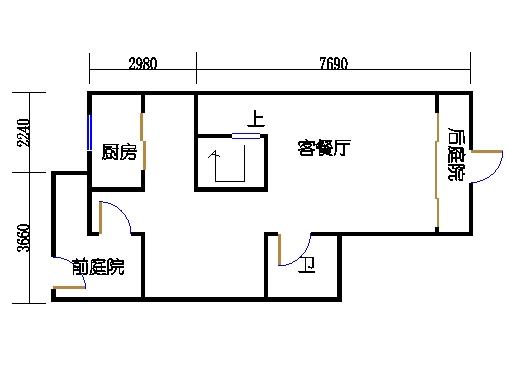 联排别墅B型一层