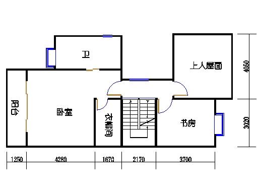 联排别墅B型三层