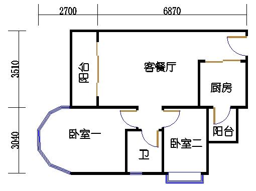 A栋8层E单元