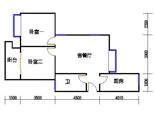 1幢4号02室(B2房型)