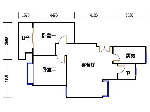 1幢4号01室(B3房型)