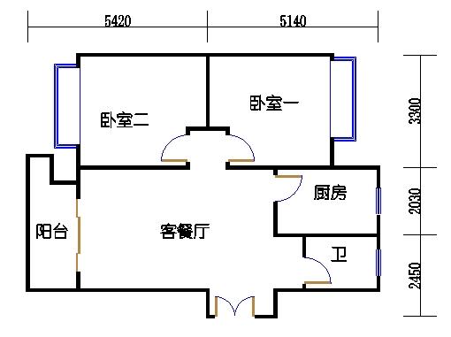 1幢3号03室(B4房型)
